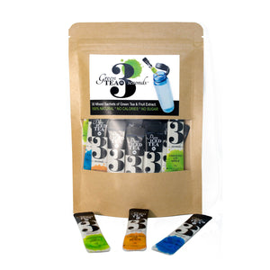 Premium Organic Instant Green Tea Bundle - Mixed 30 (3 Flavours) - Tea In 3 Seconds™