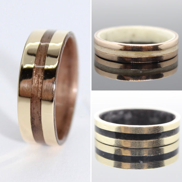 Gold & Wood ring
