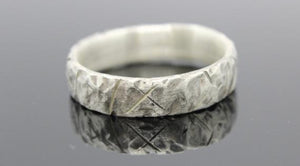 Rustic 9ct white gold ring - Sam Hawkins