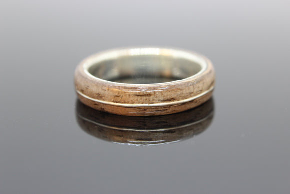 Silver and Walnut ring with a Silver Inlay. - Sam Hawkins