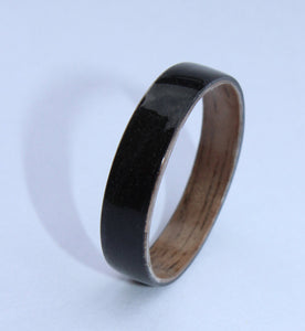 Black Tulipwood and Walnut wooden Ring. bentwood ring. Wooden ring. Wedding ring. Womens ring. Mens ring. Bespoke ring. Engagement ring - Sam Hawkins