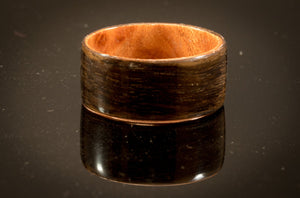 Bentwood ring. Ebony and Fir Burr Bentwood Ring. Wood ring. Wooden ring. Wedding ring. Womens ring. Mens ring. Bespoke ring - Sam Hawkins