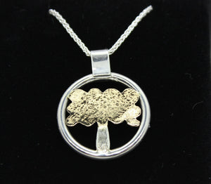 9ct Gold and Sterling Silver Family Tree Necklace. Gold necklace. Silver necklace. Family Tree. Bespoke necklace. Custom necklace. - Sam Hawkins