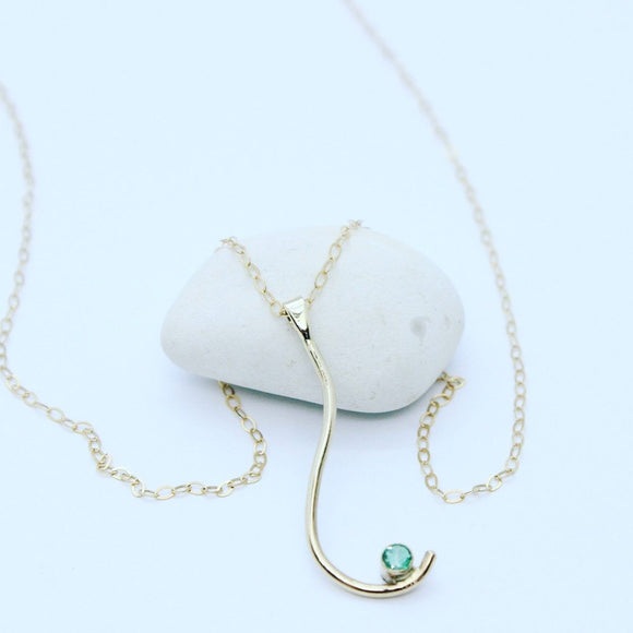 Gold and Emerald Necklace - Sam Hawkins