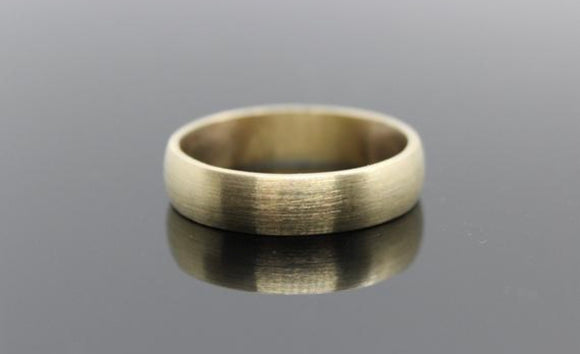 9ct yellow gold rustic wedding band ring. - Sam Hawkins