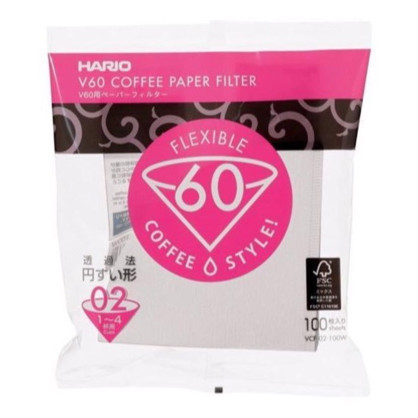 Hario V60 02 Pack of Filter Papers (100)