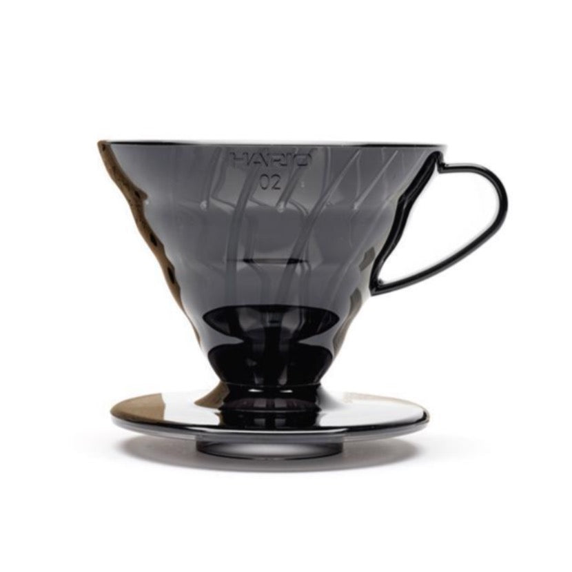 V60 Hario Dripper set in Transparent Black