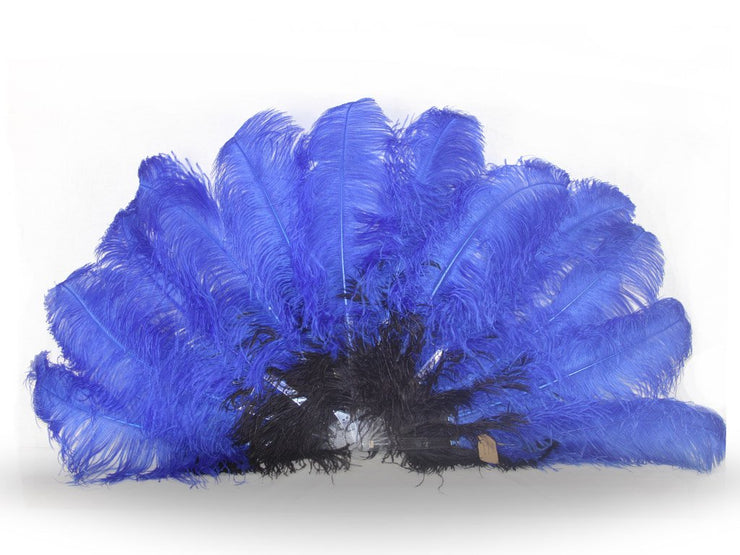 Fancy Burlesque Fan - Double Layer - Ostrich Feather Fans - Ostrich.co.za