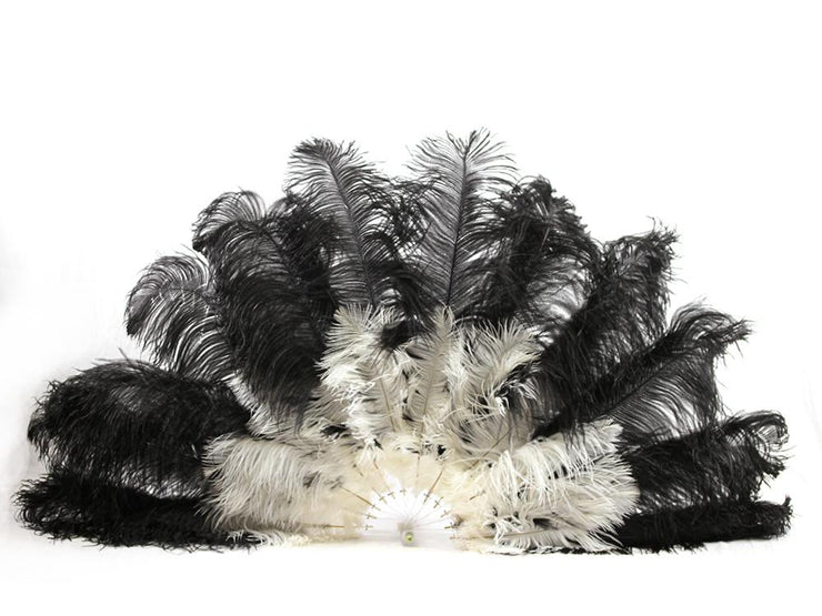 Burlesque Feather Fan - Double Layer - Ostrich Africa