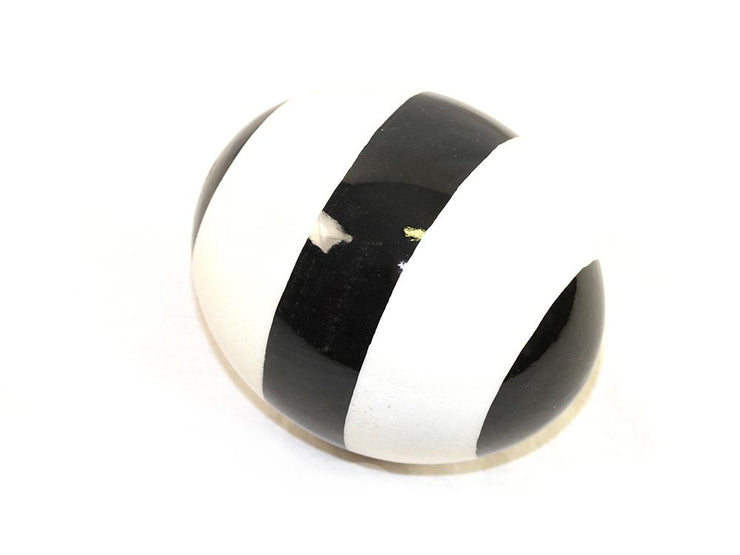 Decoupage Ostrich Egg Shell (Thick Black Stripe) - Ostrich Egg Shells - (Sold By Piece)