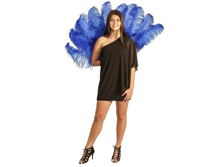 Fancy Burlesque Fan - Double Layer - Ostrich Africa