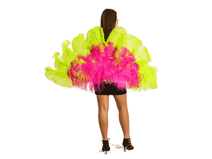 The Flirt Burlesque Fan - Double Layer - Ostrich Feather Fans - Ostrich.co.za