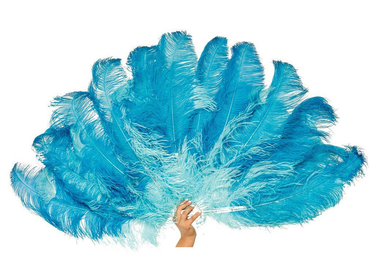 Glamour Burlesque Fan - Double Layer - Ostrich Feather Fans - Ostrich.co.za