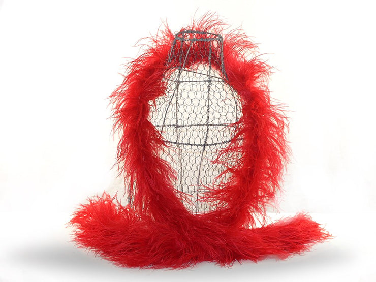 Ostrich with Turkey Marabou Feather Boa - Ostrich Feather Boa - Ostrich.co.za