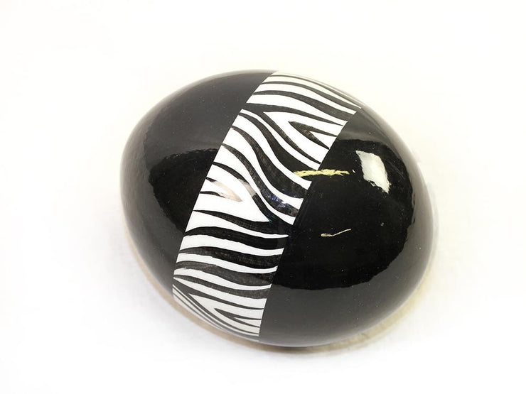 Decoupage Ostrich Egg Shell (Zebra) - Ostrich Egg Shells - (Sold By Piece)