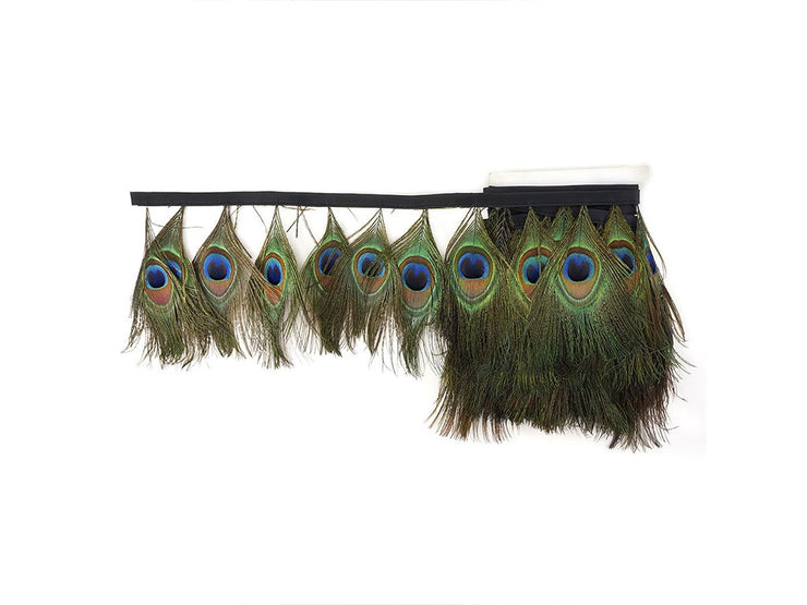 Peacock Feather Trimmings (Sold By Meter) - Peacock Feather Fringe - Ostrich.co.za