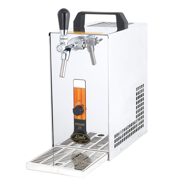 portable beverage dispenser with air compressor