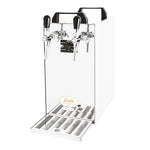 portable beverage dispenser chiller two tap