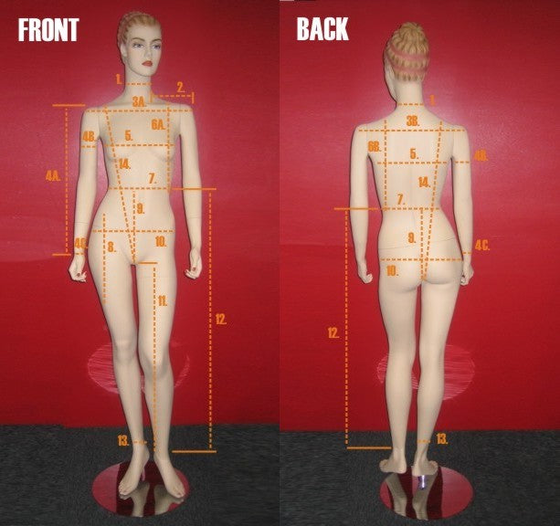 HOW TO MEASURE A PERSON OR MANNEQUIN: