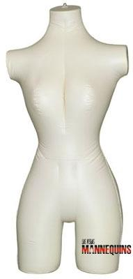 Female Inflatable 3/4 Torso - Las Vegas Mannequins