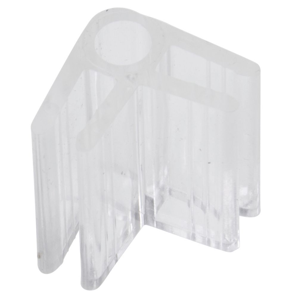 2 - Way Glass Shelf Connector Lexan - Las Vegas Mannequins
