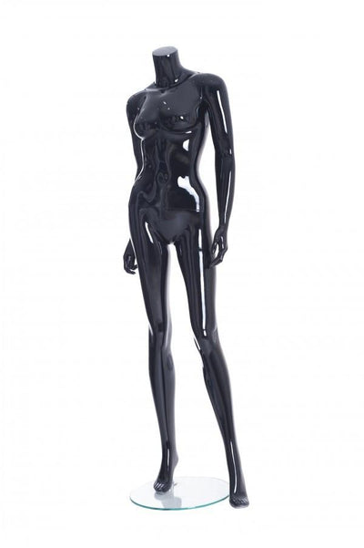 Rental Female Black Headless Mannequin - Las Vegas Mannequins