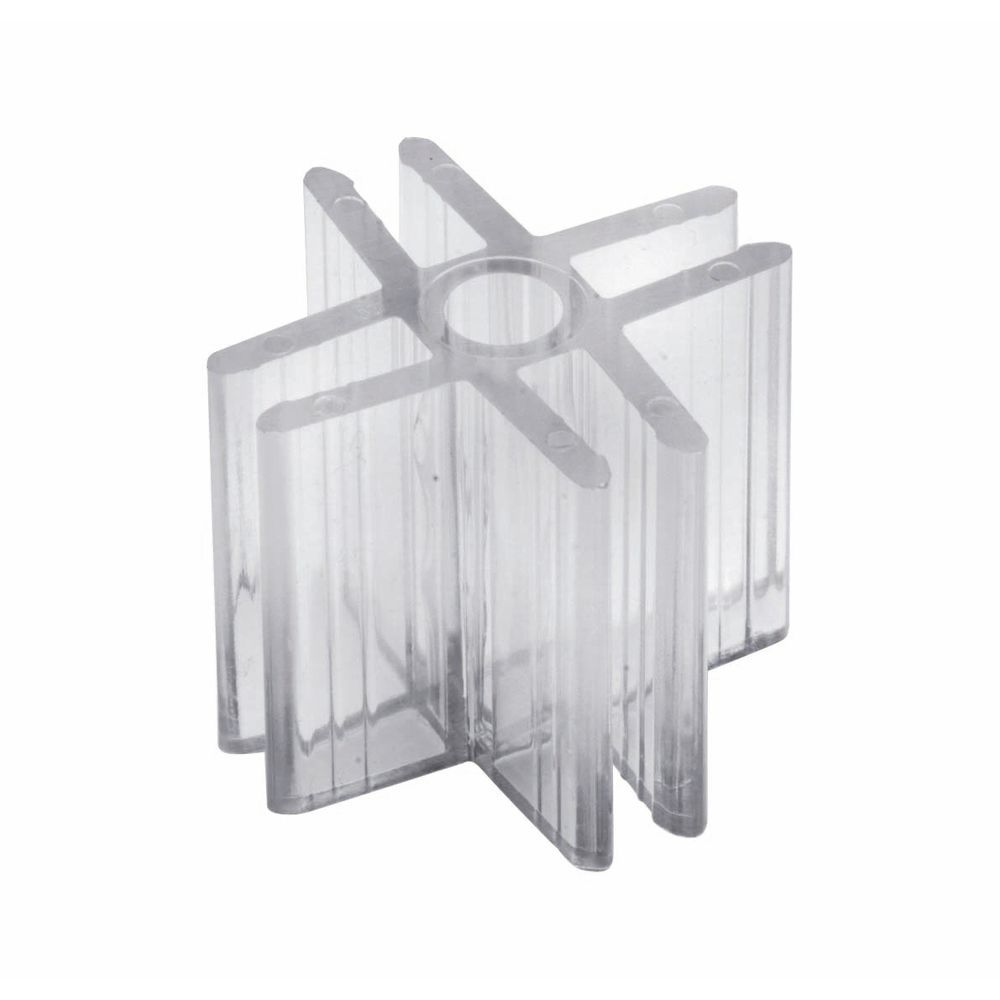 4 - Way Glass Shelf Connector Lexan - Las Vegas Mannequins