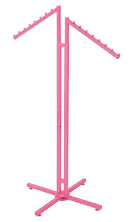 Hot Pink 2-Way Clothing Rack with Slant Arms - Las Vegas Mannequins