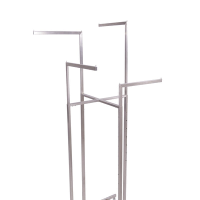 Rental 4-Way Rack with Straight Arms - Las Vegas Mannequins