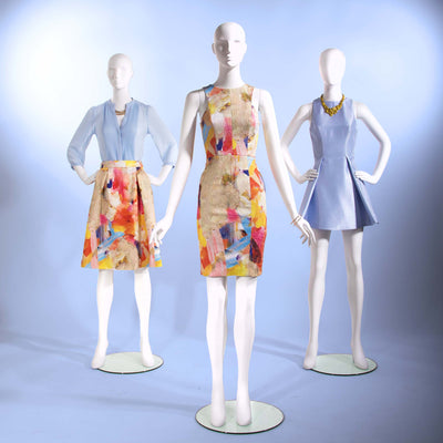 Female - Oval Head facing straight, arms at side - Las Vegas Mannequins