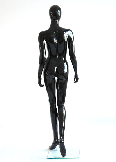 Rental Female Glossy Black w/ Head - Las Vegas Mannequins