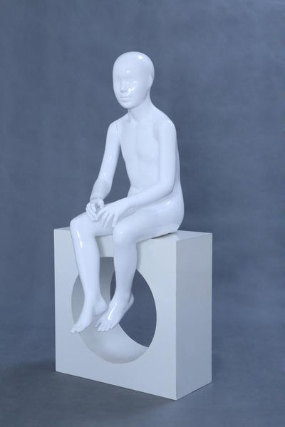 Child Faceless Sitting Mannequin - Las Vegas Mannequins