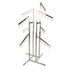 4-Way Handbag Rack w/ 4 Slant Arms and 4 Twist-on Slant Arms - Square Tubing - Las Vegas Mannequins