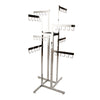 4-Way Handbag Rack w/ 4 Straight Arms and 4 Twist-on Straight Arms - Rectangular Tubing - Las Vegas Mannequins