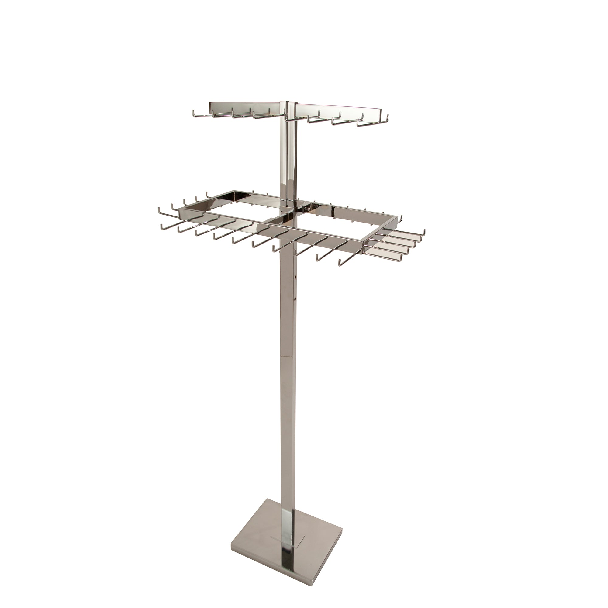 2 Tier Adjustable Rectangular Belt Rack - Las Vegas Mannequins