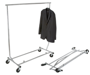 Heavy Duty Salesman's Rack - Collapsible Garment Rack - Round Tubing - Las Vegas Mannequins