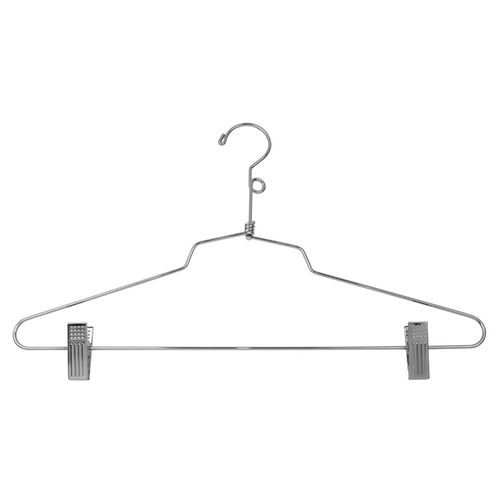 "16"" Steel Combination Hanger w/ Vinyl Cushion Clips and Loop Hook - Las Vegas Mannequins"
