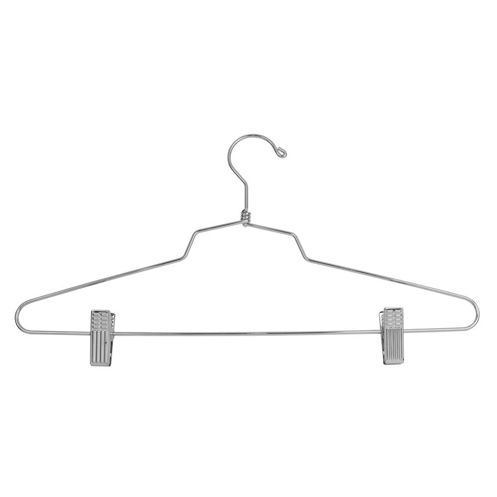 "16"" Steel Combination Hanger w/ Vinyl Cushion Clips and Regular Hook - Las Vegas Mannequins"