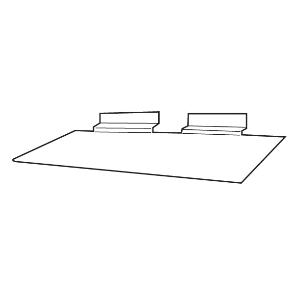 Slat Wall Acrylic Shoe Shelf