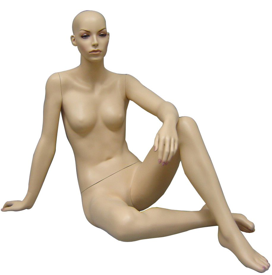 Rental Female Flesh Sitting Mannequin - Las Vegas Mannequins