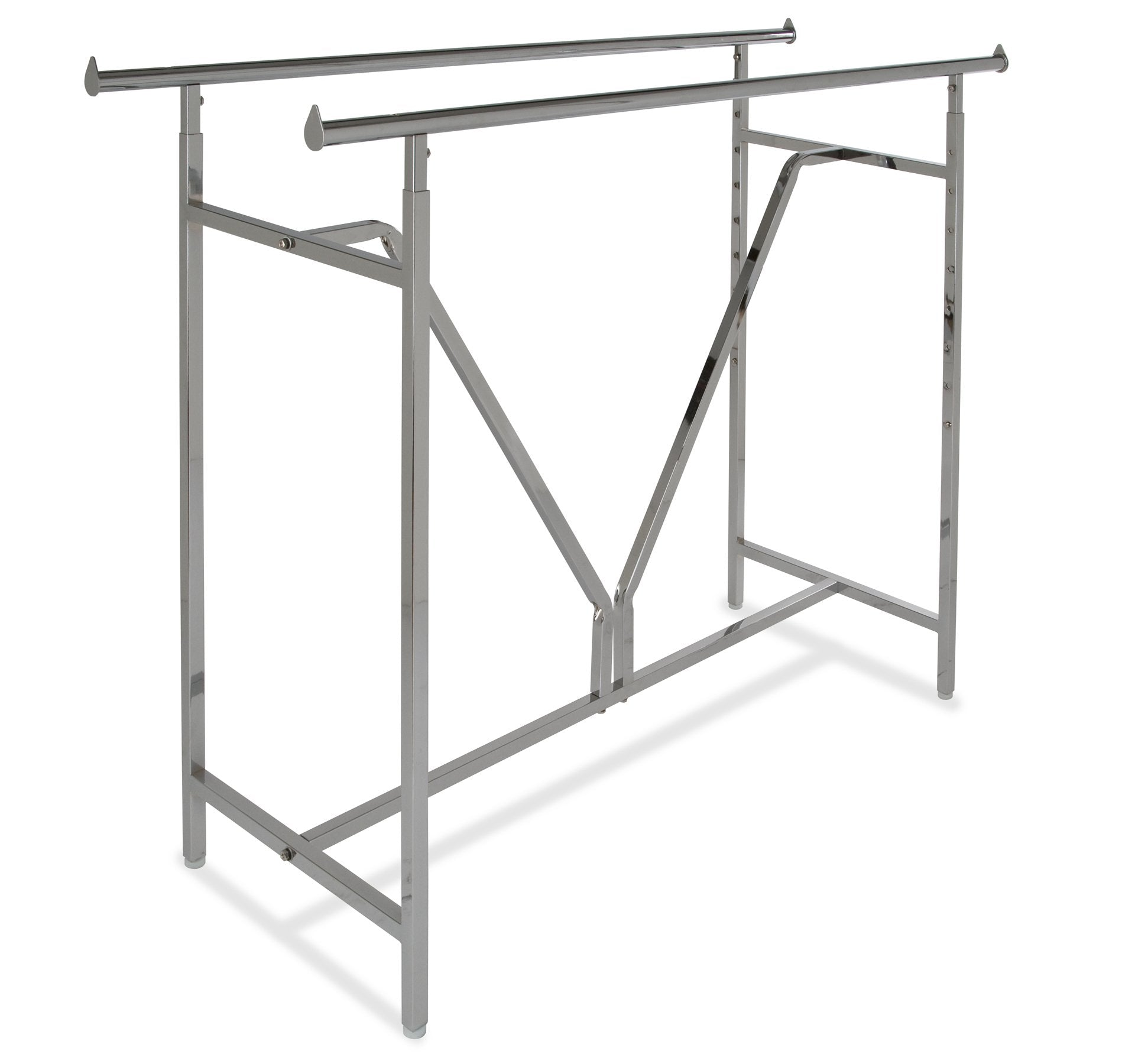 Heavy Duty Double Bar Rack w/ V-Brace - Las Vegas Mannequins