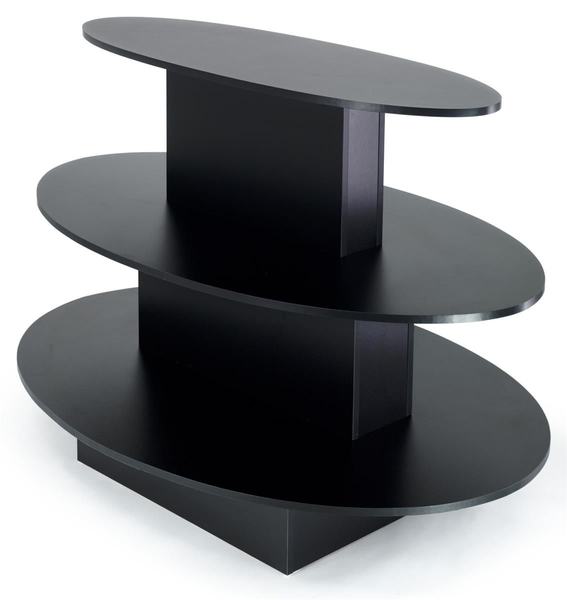 3-Tier Melamine Oval Table - Las Vegas Mannequins