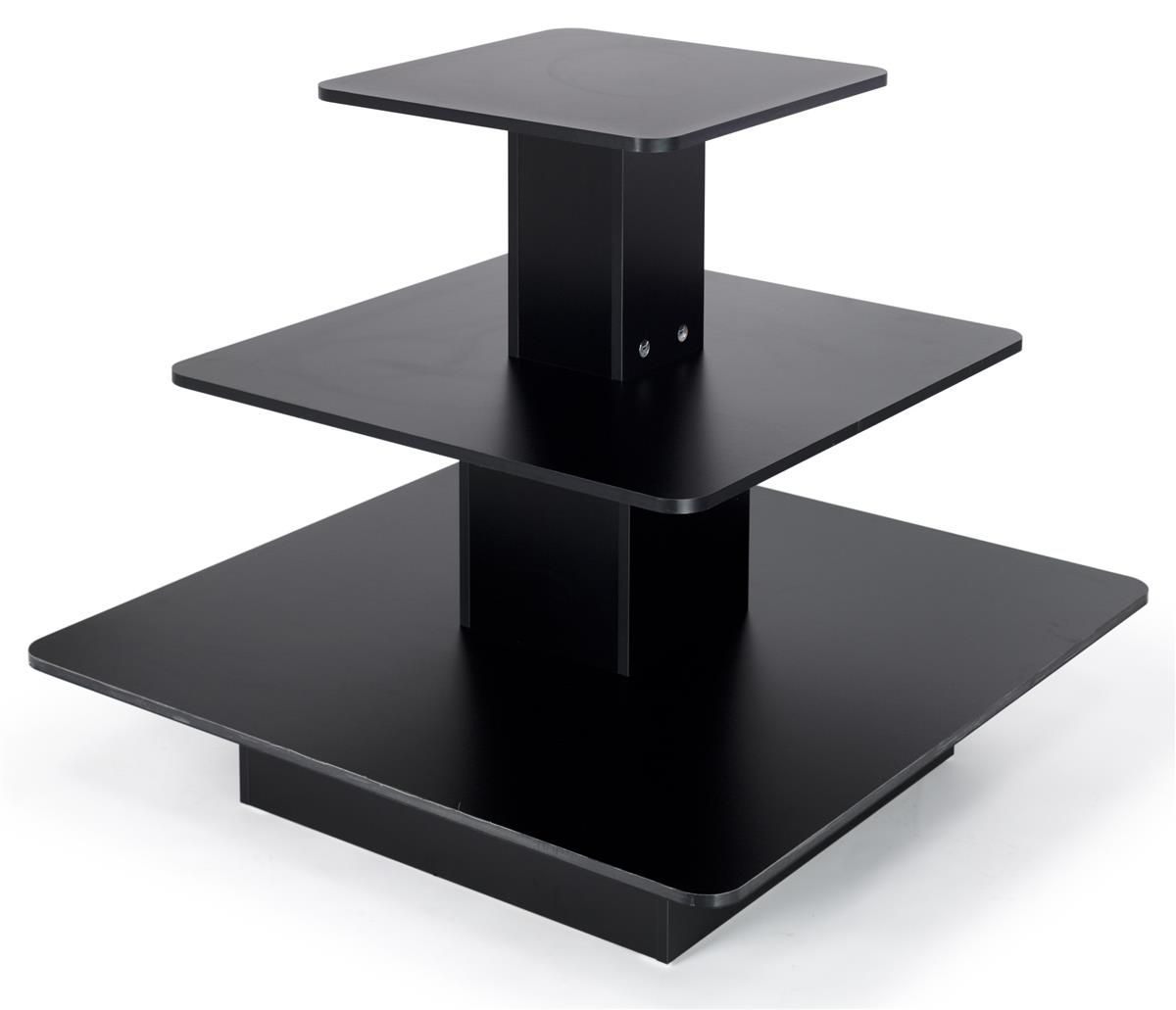 3-Tier Melamine Square Table - Las Vegas Mannequins