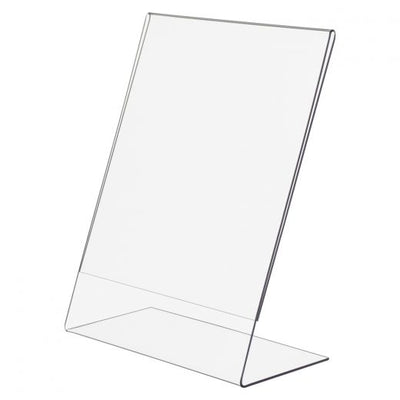 Acrylic Slantback Sign Holder - Las Vegas Mannequins