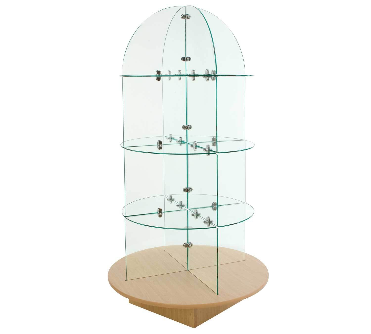 Glass Merchandiser with Round Base - Las Vegas Mannequins