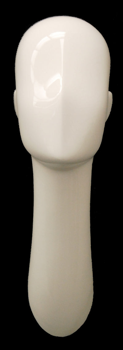 Abstract Male Head Mannequin White - Las Vegas Mannequins