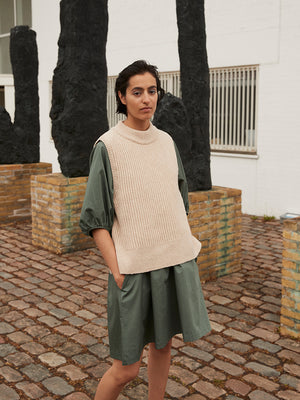 Andrea Knit Vest - Light Camel