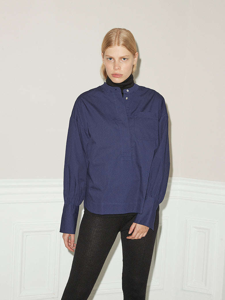 Hedvig Navy Blouse