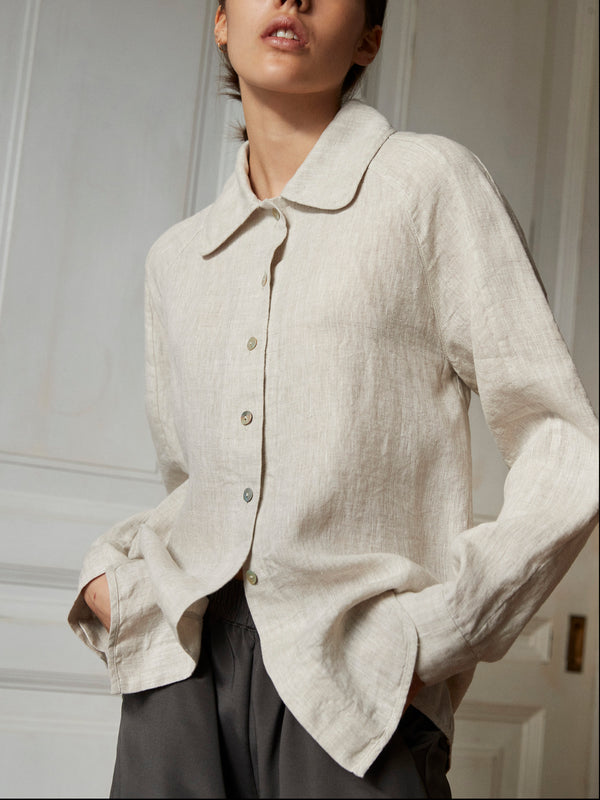 Gudrun Linen Shirt pre order total amount 1499 DKK