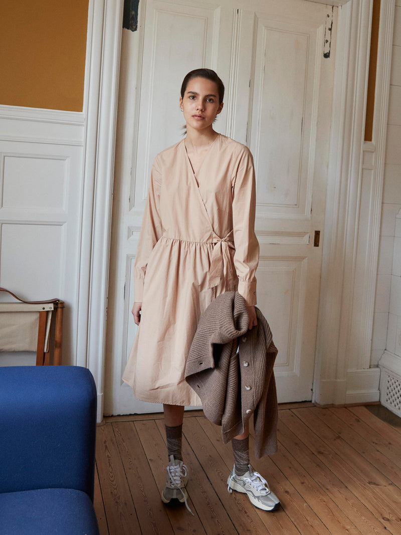 Anna Camel Wrap Dress